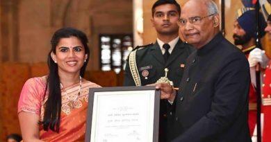 Ms. Seema Mehta awarded the coveted Nari Shakti Puraskar: The highest civilian honour for Women in India