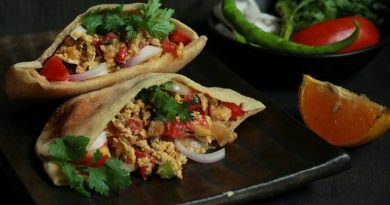 Egg Bhurji Stuffed Pita Pockets- Recipe