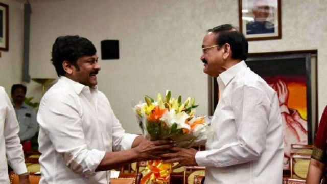 """Vice President watches """"Sye Raa…"""" with Chiranjeevi"""