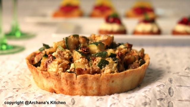 Roasted Vegetable Pesto Tart- Recipe