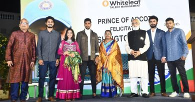 Washington Sundar Felicitated by Prince of Arcot Stills