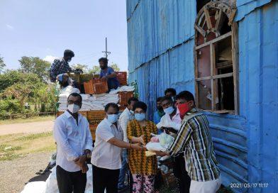 Actor Poochi Murugan Donated Groceries for Nadigar Sangam Members Stills