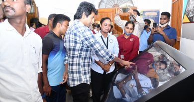 Actor Sivakarthikeyan Visit Tamil Nadu Police Museum Stills
